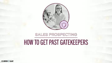 How to Get Past Gatekeepers
