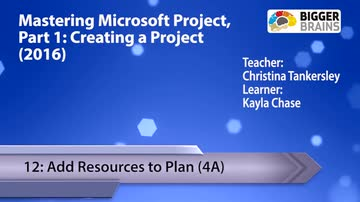 Creating a Project - 12: Add Resources to Plan