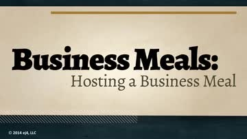 Hosting a Business Meal
