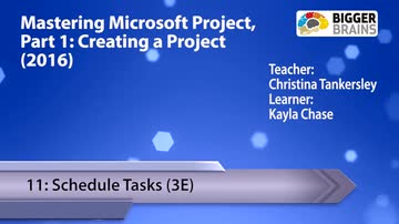 Creating a Project - 11: Schedule Tasks