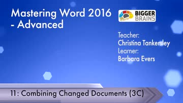 Advanced - Combining Changed Documents