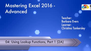 Advanced - Using Lookup Functions (Part 1)