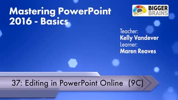 Editing in Powerpoint Online