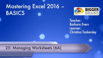 Managing Worksheets